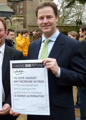 A picture of Nick Clegg before the election